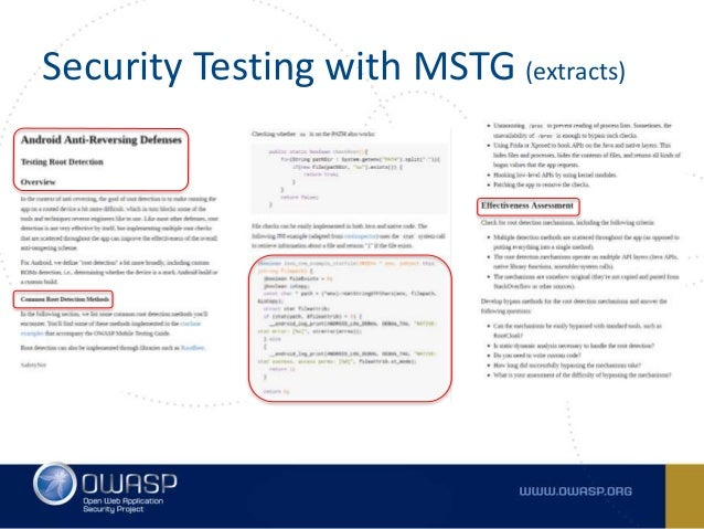 owasp mobile security testing guide github