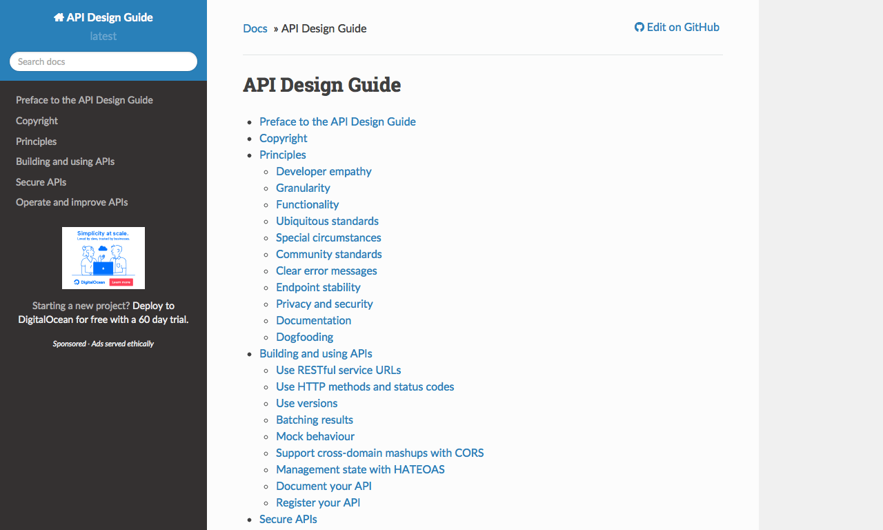 guide to good api design